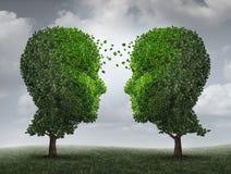 Uma comunicação e crescimento ilustração stock