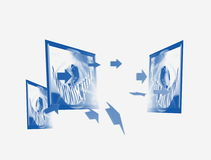 Uma comunicação e televisão Fotos de Stock Royalty Free