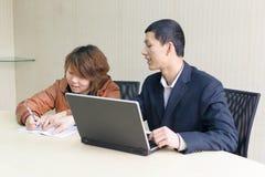 Uma comunicação empresarial Fotos de Stock
