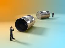 Uma comunicação empresarial ilustração do vetor