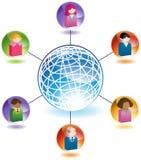 Uma comunicação global entre povos Imagem de Stock