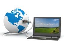 Uma comunicação global no mundo. Fotografia de Stock