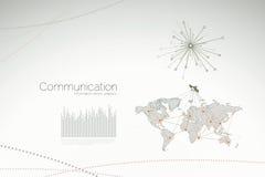 Uma comunicação - gráficos e estatísticas corporativos Fotografia de Stock