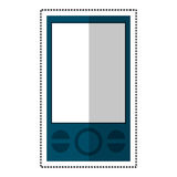 uma comunicação móvel da tecnologia do smartphone azul ilustração stock