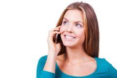 Uma comunicação no prazer Imagens de Stock Royalty Free