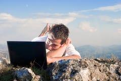 Uma comunicação sem fio imagens de stock royalty free