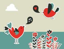Uma comunicação social fresca dos pássaros dos media ilustração do vetor
