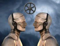 Uma comunicação, tecnologia, informação, aprendendo, educação ilustração royalty free