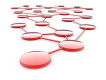 Uma comunicação abstrata da rede Foto de Stock