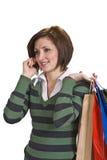 Uma comunicação da compra Imagem de Stock Royalty Free