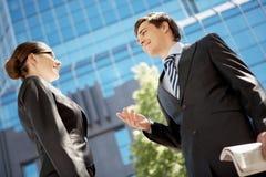 Uma comunicação empresarial Imagem de Stock Royalty Free