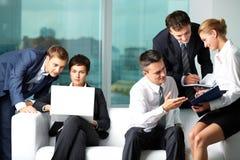 Uma comunicação empresarial Imagens de Stock