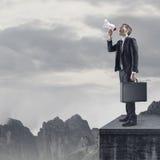 Uma comunicação global do negócio Fotografia de Stock