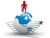 Uma comunicação global no mundo. Imagens de Stock