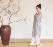 Uma concepção artística da meditação- nobre do chá do zen foto de stock royalty free