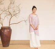 Uma concepção artística da meditação- nobre do chá do zen fotos de stock royalty free