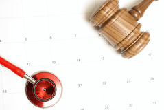 A medicina encontra a lei Imagens de Stock Royalty Free