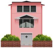 Uma construção cor-de-rosa grande Fotos de Stock Royalty Free