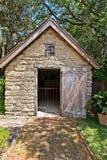 Uma construção da saída situada com base no Gonzalez Alvarez House em St Augustine histórico, Florida Foto de Stock