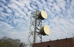 Uma construção do transmition do sinal foto de stock royalty free