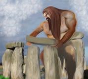 Uma construção gigante Stonehenge ilustração stock