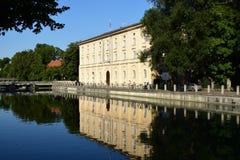 Uma construção histórica em Munich, Alemanha imagens de stock