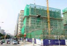 Uma construção residencial é construída em Macau Foto de Stock Royalty Free