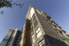 Uma construção residencial na cidade de Queretaro imagem de stock