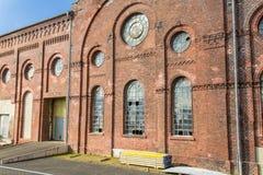 Uma construção velha está abandonada Fotografia de Stock