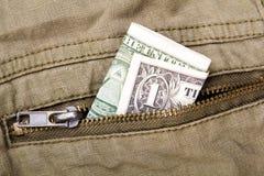 Uma conta de dólar Fotografia de Stock