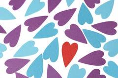 Uma cor verdadeira do amor imagens de stock