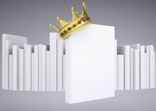 Uma coroa do livro branco e do ouro Foto de Stock Royalty Free