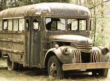 Uma corrida abandonada velha transporta para baixo Foto de Stock Royalty Free