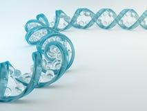 Uma costa do ADN do vidro ilustração stock