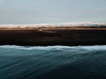Uma costa islandêsa Fotografia de Stock