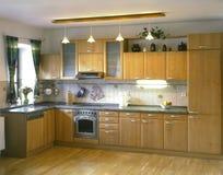 Uma cozinha Fotos de Stock Royalty Free