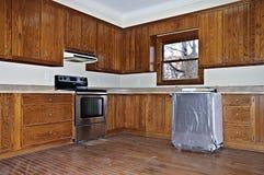 Uma cozinha remodela fotos de stock royalty free