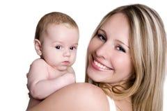 Uma criança com sua matriz Imagens de Stock Royalty Free