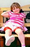 Uma criança de quatro anos. Foto de Stock Royalty Free