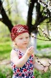 Uma criança em uma caminhada Foto de Stock Royalty Free