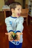 Uma criança está receosa Imagem de Stock Royalty Free