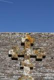 Uma cruz de pedra Imagem de Stock Royalty Free
