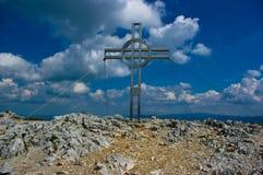 Uma cruz santamente. foto de stock