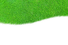 Uma curva do espaço em branco da grama verde isolada Imagens de Stock Royalty Free