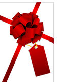 uma curva lustrosa vermelha bonita Imagem de Stock Royalty Free