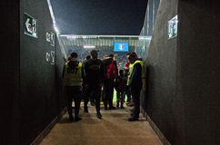 Uma da entrada para os suportes a Stadio Friuli Imagem de Stock Royalty Free
