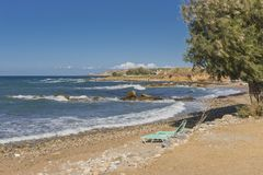 Uma da praia na Creta Foto de Stock Royalty Free