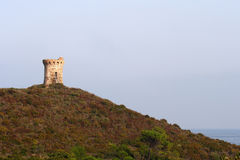 Uma da torre de vigia 93 em Córsega Fotografia de Stock