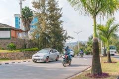 Uma das cidades as mais limpas em África, Kigali Fotografia de Stock Royalty Free