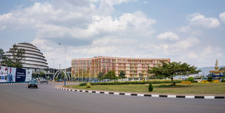 Uma das cidades as mais limpas em África, Kigali Foto de Stock